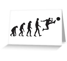 Evolution Football / Soccer Greeting Card