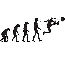 Evolution Football / Soccer Photographic Print