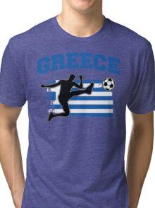 Greece Football / Soccer Tri-blend T-Shirt