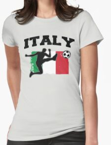Italy Football / Soccer Womens Fitted T-Shirt