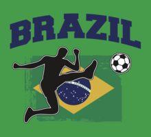 Brazil Football / Soccer One Piece - Short Sleeve