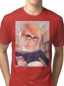 Library Girl Tri-blend T-Shirt