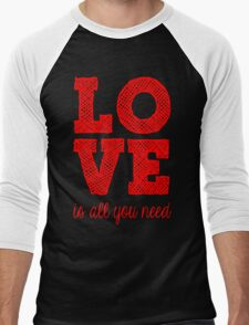 Love is all You need Men's Baseball ¾ T-Shirt