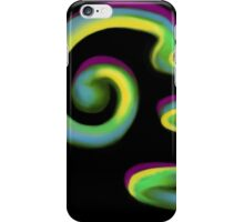 Curly Neon Abstract iPhone Case/Skin