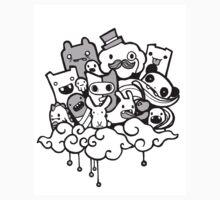Random Doodle Characters! Kids Tee