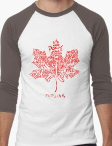 THE TRAGICALLY HIP - SUMMER TOUR 2016 - TYPOGRAPHY RED Men's Baseball ¾ T-Shirt