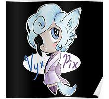 Vyxi the Chibi Fox Girl Poster