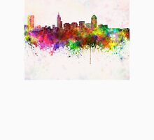 Raleigh skyline in watercolor background Unisex T-Shirt
