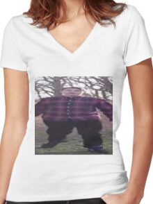 Scarce is Fat Women's Fitted V-Neck T-Shirt