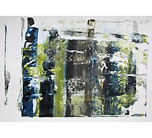 A Window into Spring, Original mixed media Abstract painting Photographic Print