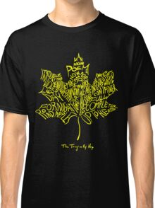 THE TRAGICALLY HIP - SUMMER TOUR 2016 - TYPOGRAPHY YELLOW Classic T-Shirt