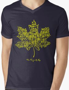 THE TRAGICALLY HIP - SUMMER TOUR 2016 - TYPOGRAPHY YELLOW Mens V-Neck T-Shirt
