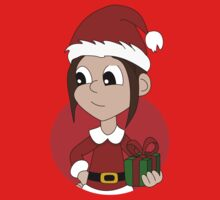 Christmas girl cartoon Kids Clothes