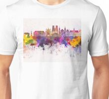 Reims skyline in watercolor background Unisex T-Shirt
