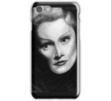 Marlene Dietrich Dramatic Portrait Pencil Drawing  iPhone Case/Skin