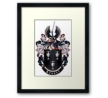 Kruger coat of arms (white background) Framed Print