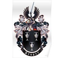 Kruger coat of arms (white background) Poster