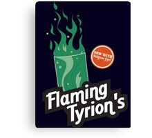 Flaming Tyrion's Canvas Print