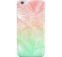 Modern coral turquoise tropical palm trees pattern iPhone Case/Skin