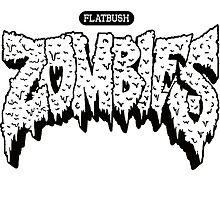 Flatbush Zombies Logo WHITE / BLACK by Ben McCarthy