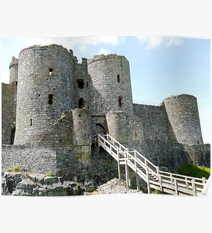 Harlech Castle North Wales (UK) Poster