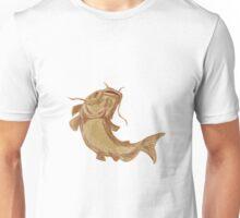 Catfish Mud Cat Going Up Drawing Unisex T-Shirt