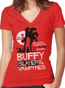 the Vampyres Women's Fitted V-Neck T-Shirt