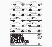 Nissan Skyline History Kids Clothes