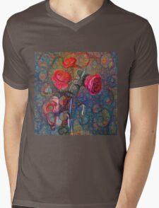 Roses #DeepDreamed Mens V-Neck T-Shirt