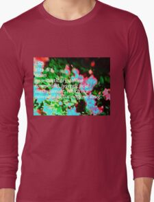 LSD definition of happiness Long Sleeve T-Shirt