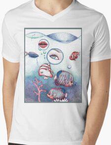 Underwater Circus Mens V-Neck T-Shirt
