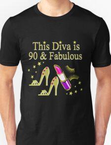90 YR OLD DIVA Unisex T-Shirt