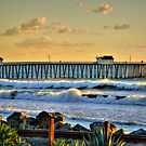 San Clemente Pier At Sunset by K D Graves Photography