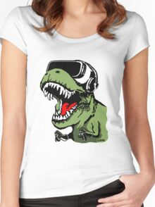 VR T-rex Women's Fitted Scoop T-Shirt