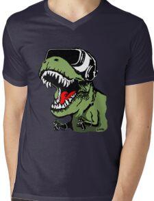 VR T-rex Mens V-Neck T-Shirt