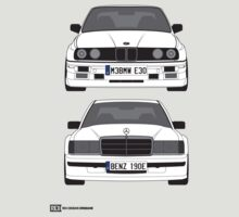 Mercedes-Benz 190E 2 3-16 vs E30 BMW M3 by RexDesigns