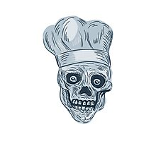 Skull Chef Cook Drawing Photographic Print