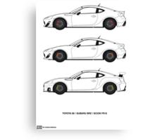 Subaru BRZ/Scion FR-S/Toyota 86  Canvas Print