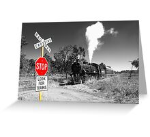 Stop for Trains Greeting Card