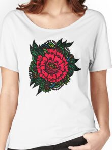 Peony rock Women's Relaxed Fit T-Shirt