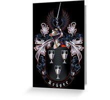 Krüger Coat of arms (black background) Greeting Card