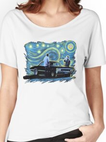 supernatural starry night sam dean winchesters  baby j2 Women's Relaxed Fit T-Shirt