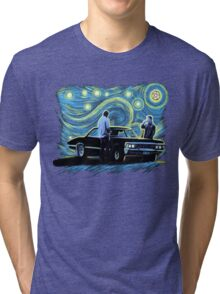 supernatural starry night sam dean winchesters  baby j2 Tri-blend T-Shirt