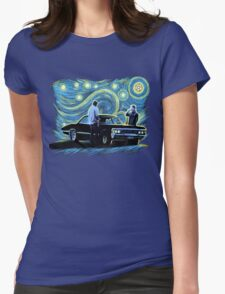 supernatural starry night sam dean winchesters  baby j2 Womens Fitted T-Shirt