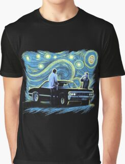 supernatural starry night sam dean winchesters  baby j2 Graphic T-Shirt