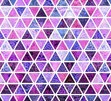 Berry Purples - Triangle Patchwork Pattern by micklyn