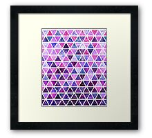 Berry Purples - Triangle Patchwork Pattern Framed Print