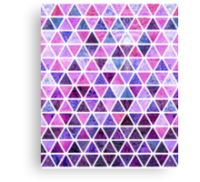 Berry Purples - Triangle Patchwork Pattern Canvas Print