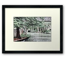 San Antonio River Walk Framed Print