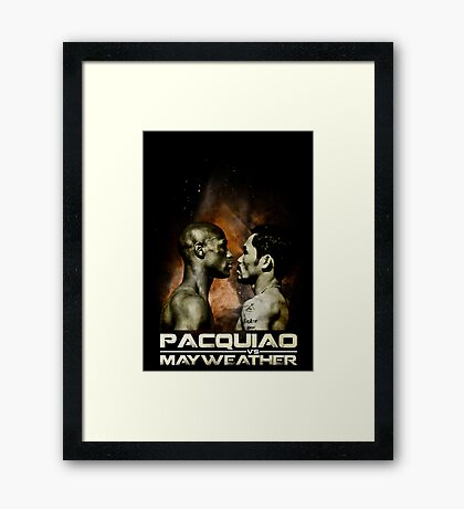 the fight of the century Framed Print